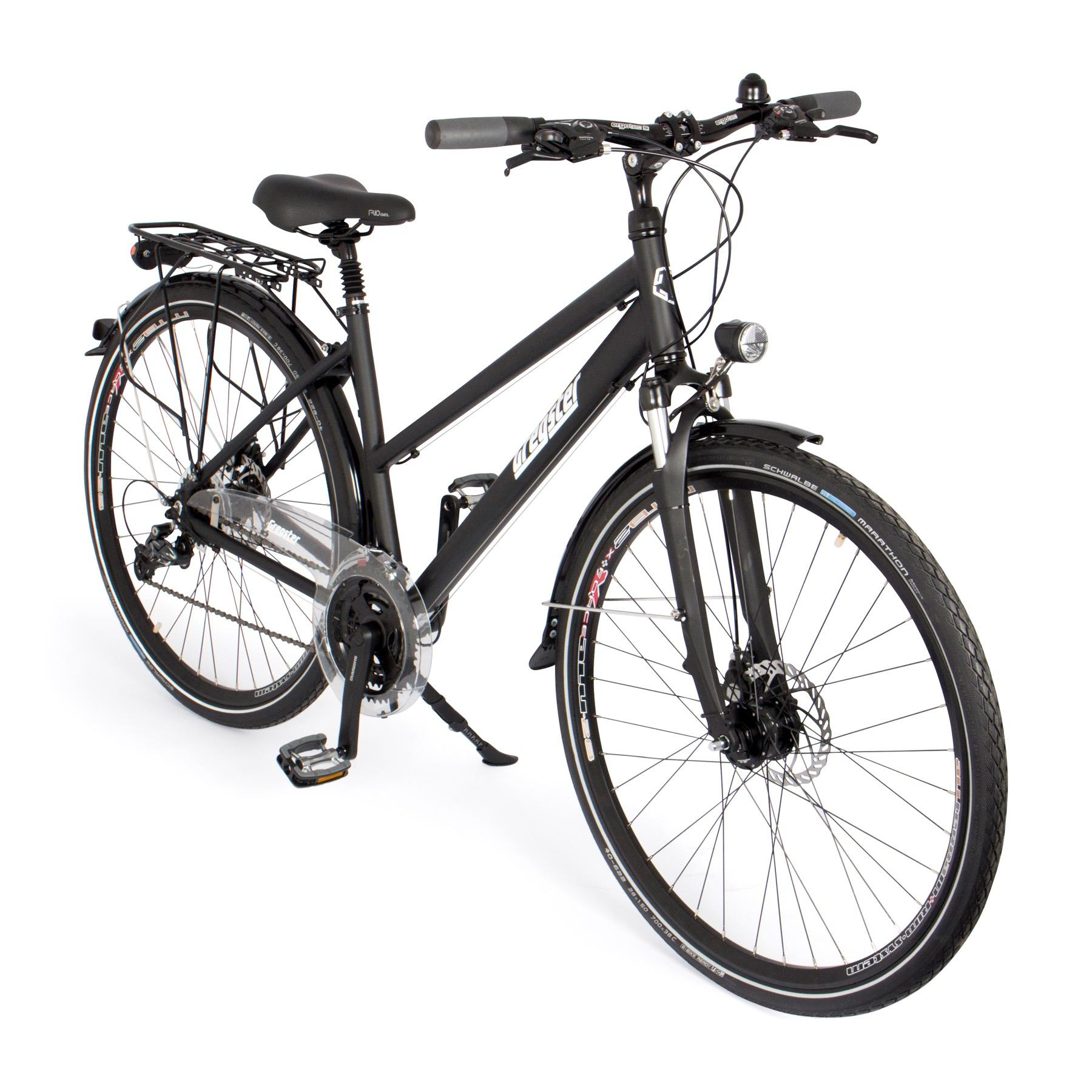 gregster damen fahrrad trekkingbike schwarz 28 36954. Black Bedroom Furniture Sets. Home Design Ideas