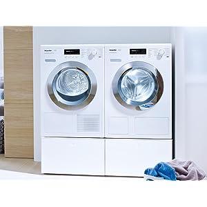 miele wts510 sockel trocknerzubeh r unterbausockel mit schublade f r waschmaschinen und. Black Bedroom Furniture Sets. Home Design Ideas