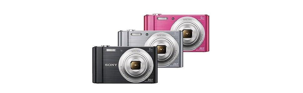 Sony Dsc W810 Digitalkamera 12x Digital2 7 Zoll Schwarz Kamera