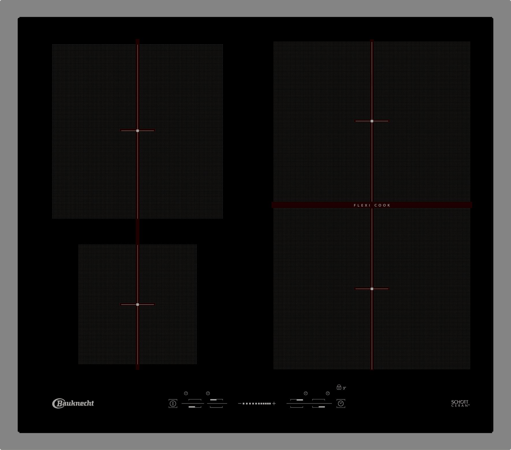bauknecht esif 6640 in kochfeld elektro induktion 58. Black Bedroom Furniture Sets. Home Design Ideas