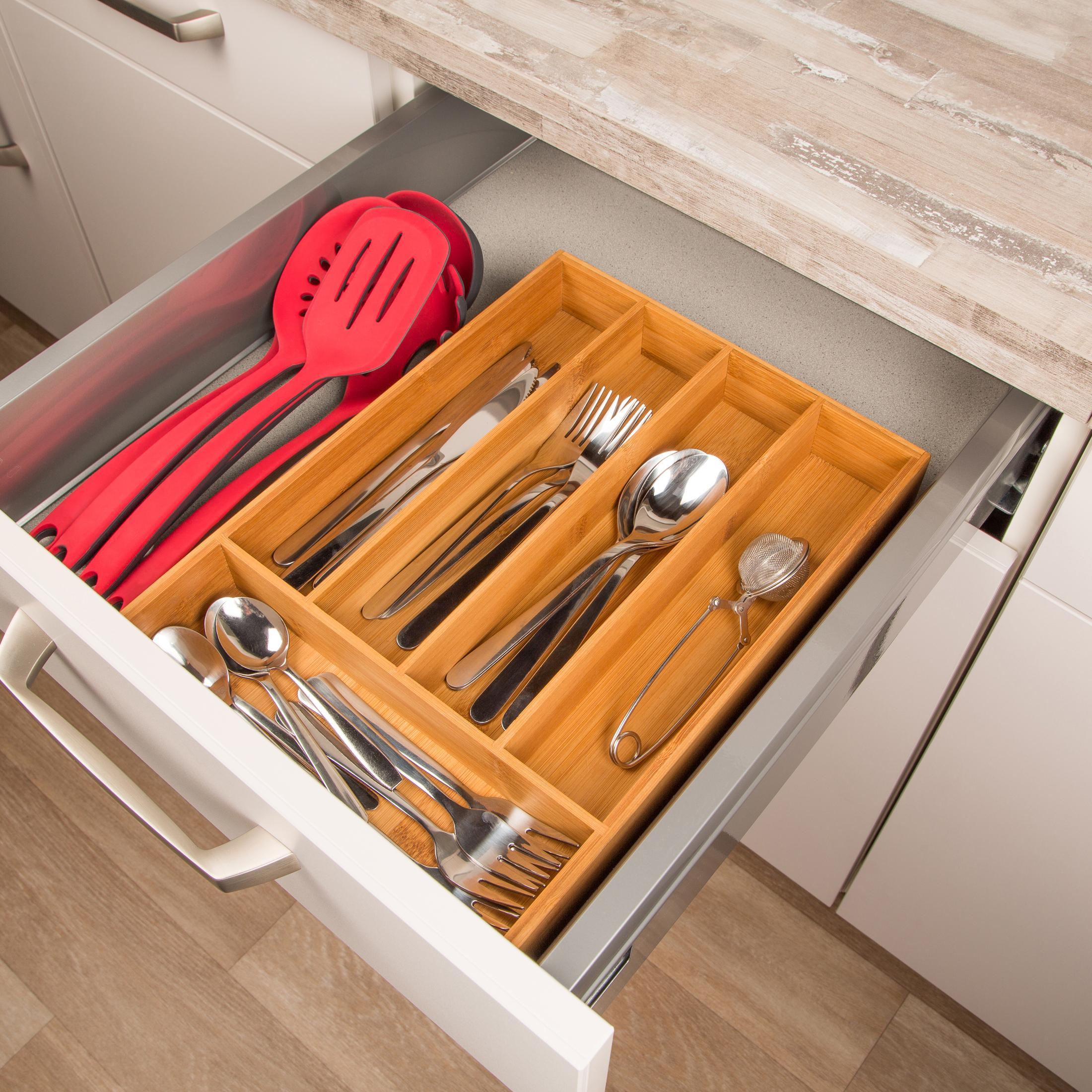levivo besteckkasten f r schubladen einsatz aus bambus besteckeinsatz f r schublade besteck. Black Bedroom Furniture Sets. Home Design Ideas