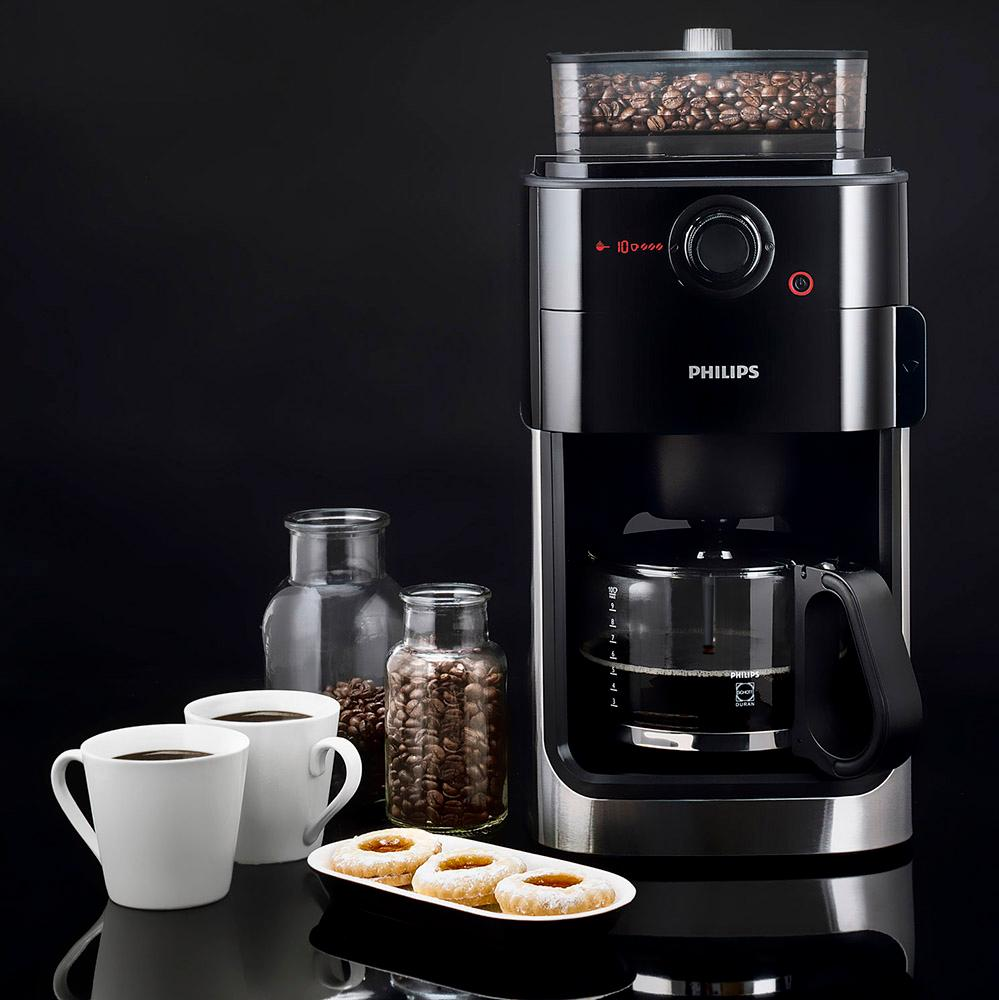 Philips Hd7762 Coffee Maker Grind Brew : Philips HD7765/00 Grind & Brew Coffee Maker Glass Jug Black & Metal Genuine NEW eBay