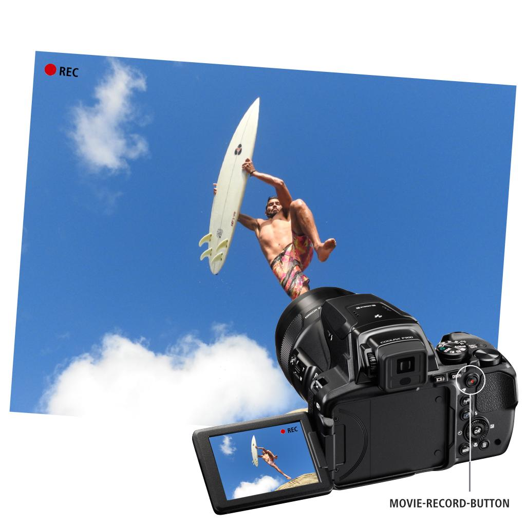 HD Videoaufnahme mit der Nikon Coolpix P900