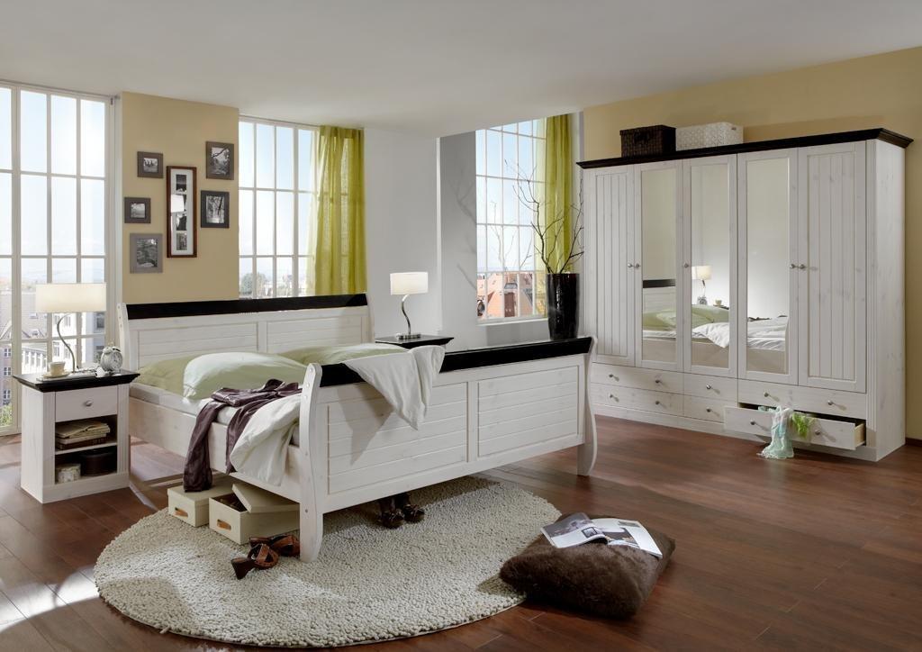 Schlafzimmer Holz Massiv Weiß: Massivholz Schlafzimmer Komplett ... Schlafzimmer Holz Massiv