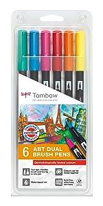 Tombow ABT-6P-3 Fasermaler Dual Brush Pen Set