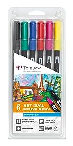 Tombow ABT-6P-1 Fasermaler Dual Brush Pen Set