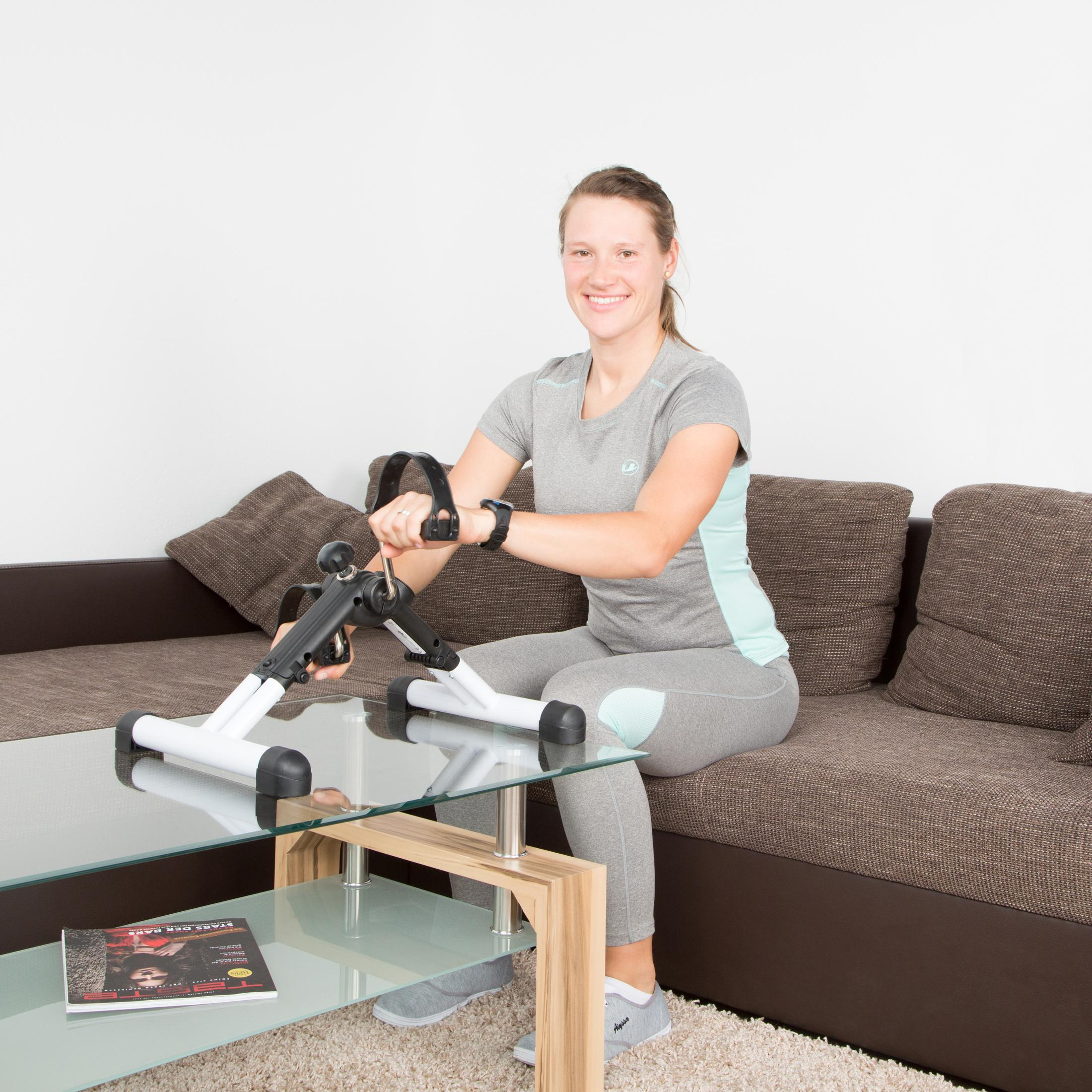 ultrasport mpe 25 klappbares mini fahrrad mini bike heimtrainer f r arm beintraining. Black Bedroom Furniture Sets. Home Design Ideas