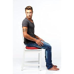 Dynair Ballkissen Anwendung auf Stuhl