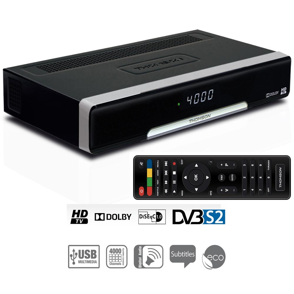 thomson ths221 digitaler hd satelliten receiver hdmi scart sat in out ethernet usb 2 0 typ. Black Bedroom Furniture Sets. Home Design Ideas