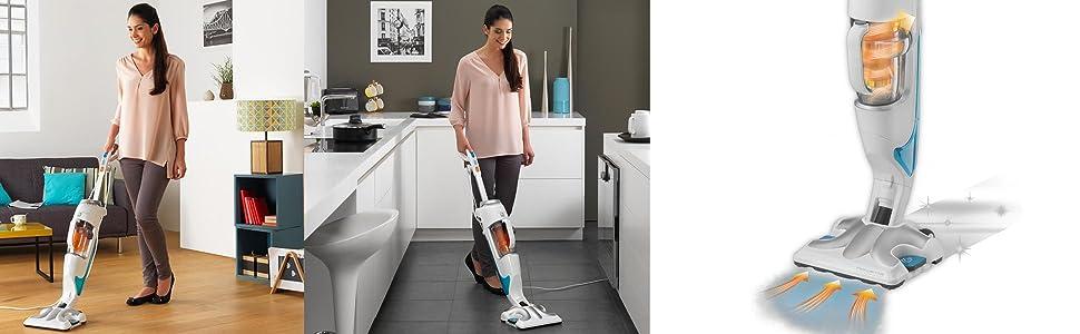 rowenta ry7557wh 2 in 1 staubsauger und dampfreiniger steam und clean wei. Black Bedroom Furniture Sets. Home Design Ideas
