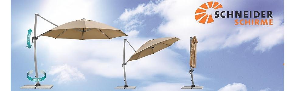 schneider sonnenschirm rhodos rondo sand 350 cm rund gestell aluminium bespannung. Black Bedroom Furniture Sets. Home Design Ideas