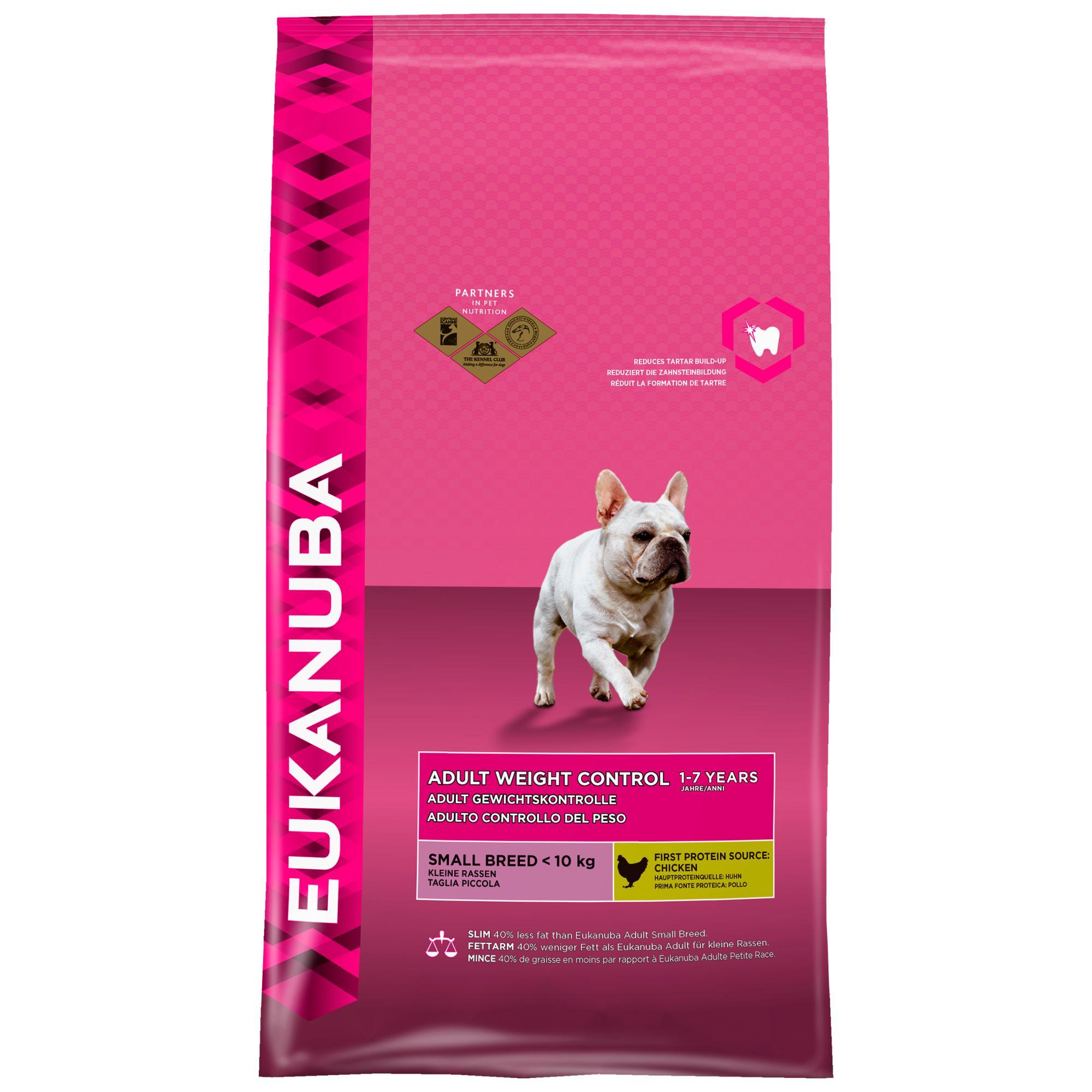 eukanuba fettarmes hundefutter f r kleine hunde trockenfutter mit huhn 1 x 3 kg. Black Bedroom Furniture Sets. Home Design Ideas