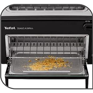tefal toast n 39 grill tl6008 2in1 toaster und mini ofen 1300 watt. Black Bedroom Furniture Sets. Home Design Ideas