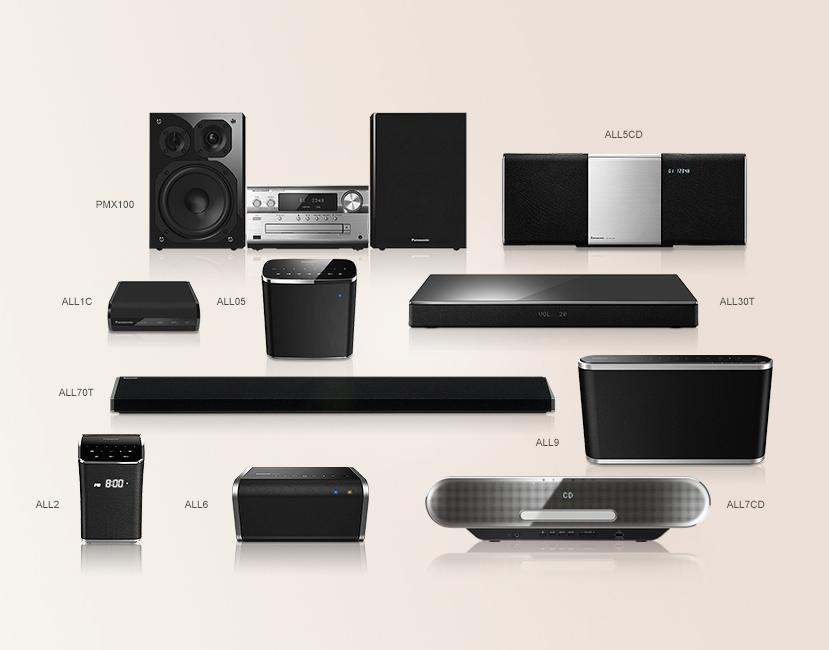 panasonic sc all9eg k wireless speaker multiroom wifi bluetooth musik streaming schwarz. Black Bedroom Furniture Sets. Home Design Ideas