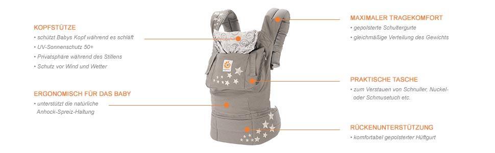 Ergobaby Babytrage Original Produktdetails Überblick
