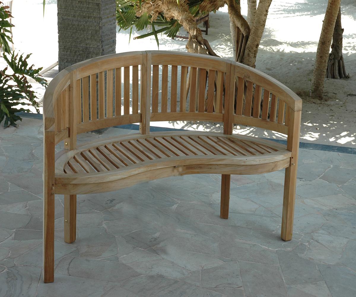Teakholz gartenbank halbrund 035003 eine for Sessel halbrund