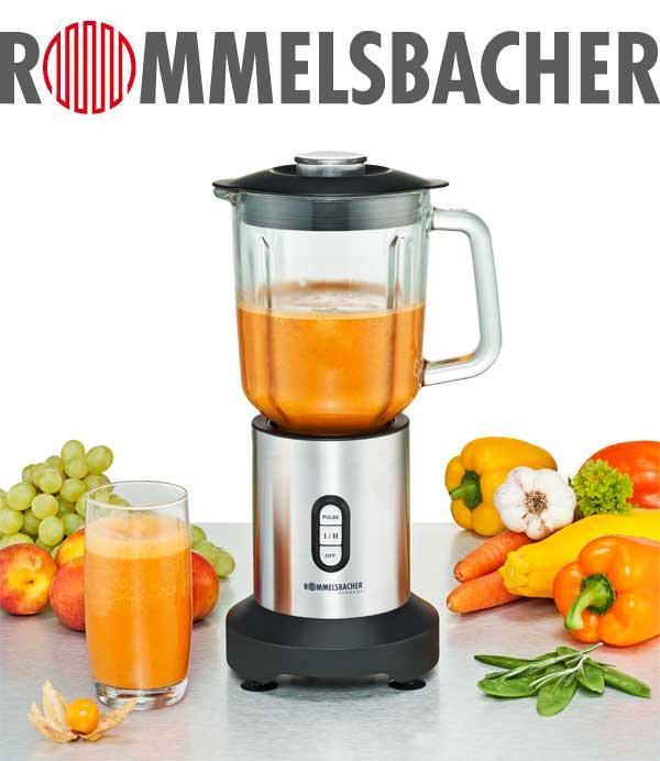 rommelsbacher mx 350 standmixer mit gratis to go mixbeh lter 1 2 liter glaskrug 23. Black Bedroom Furniture Sets. Home Design Ideas
