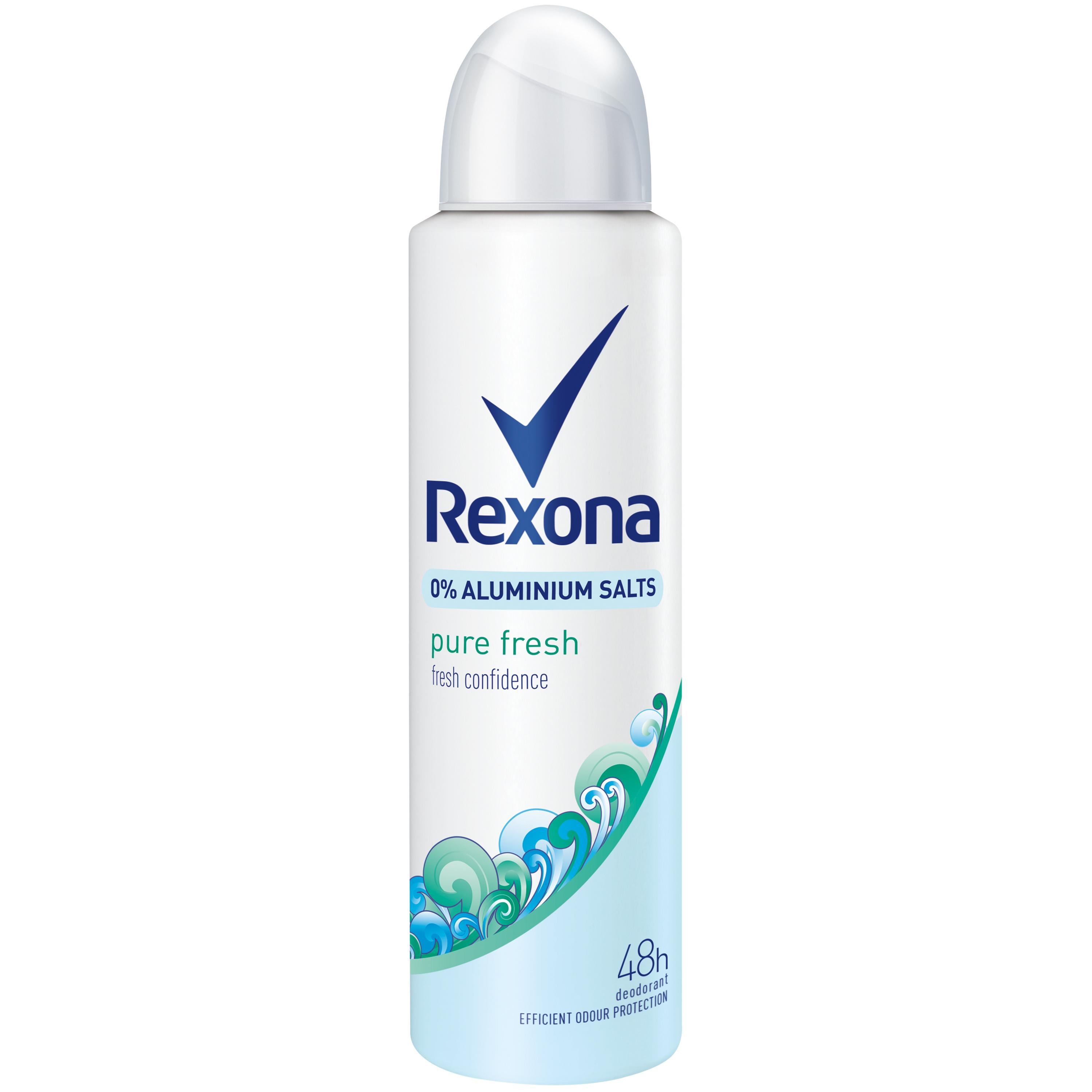 rexona deospray pure fresh ohne aluminium 6er pack 6 x 150 ml beauty. Black Bedroom Furniture Sets. Home Design Ideas