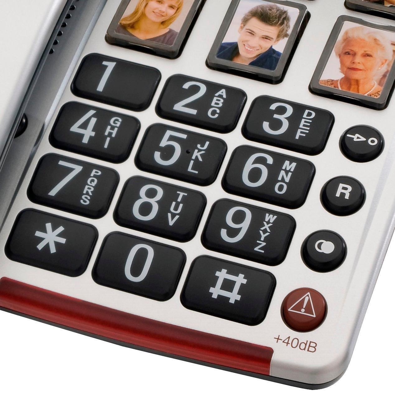 amplicomms bigtel 40 plus  Audioline BigTel 40 Plus, Schnurgebundenes: : Elektronik