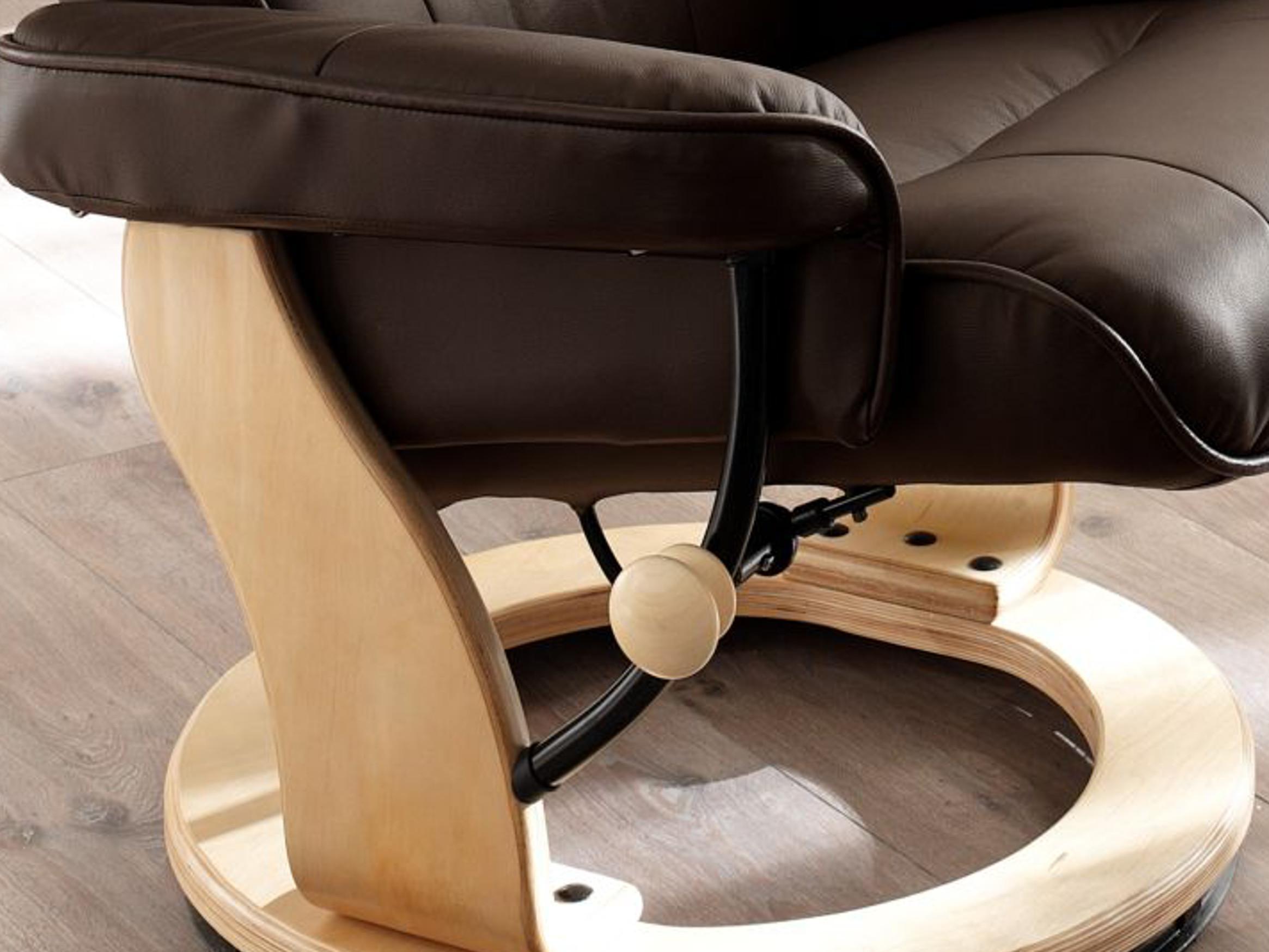 robas lund sessel relaxsessel montreal mit hocker leder braun 64022bn5 k che. Black Bedroom Furniture Sets. Home Design Ideas