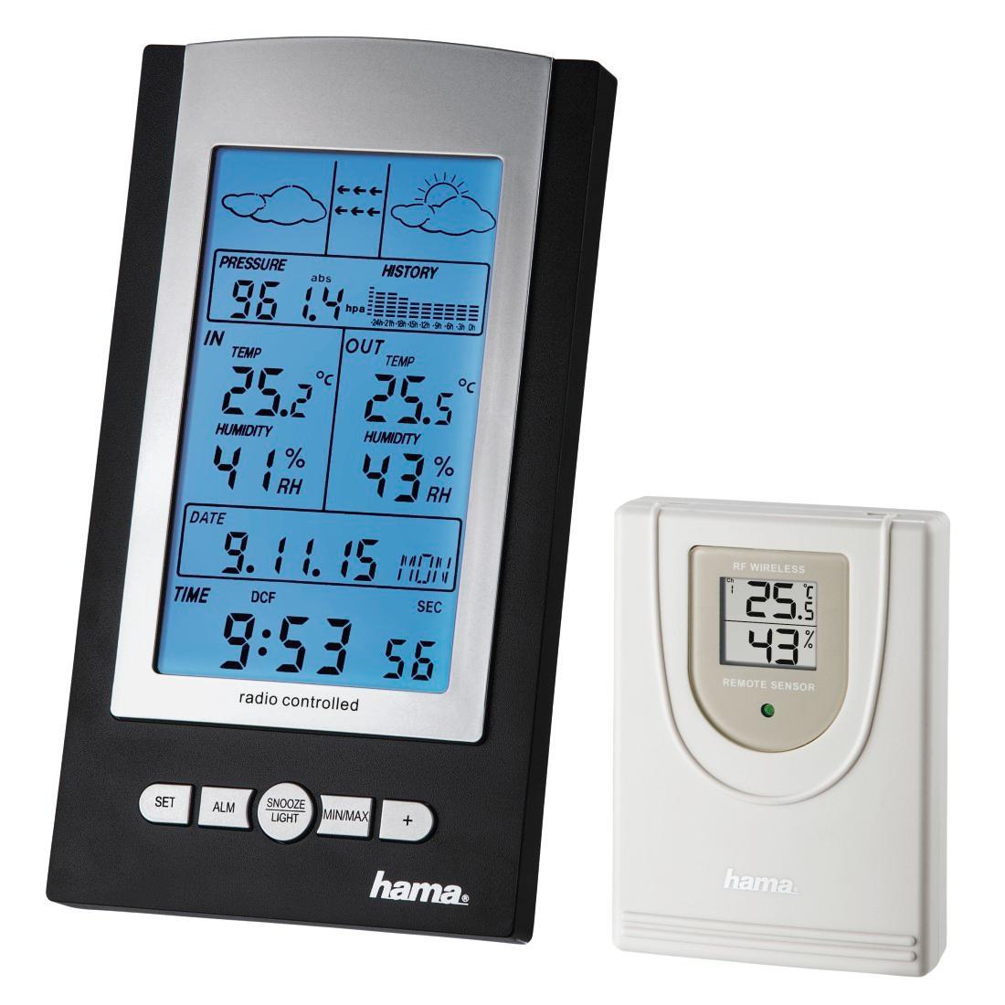hama funk wetterstation mit au en sensor thermometer. Black Bedroom Furniture Sets. Home Design Ideas