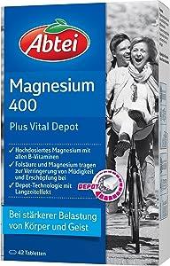 Abtei Magnesium Plus mit Extra-Vital-Depot, 42 Stück, 1er