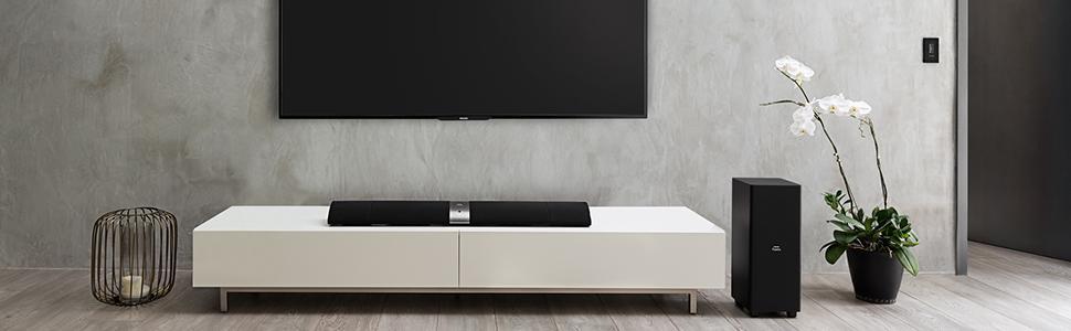 philips fidelio b5 soundbar surround kabellos subwoofer bluetooth ebay. Black Bedroom Furniture Sets. Home Design Ideas