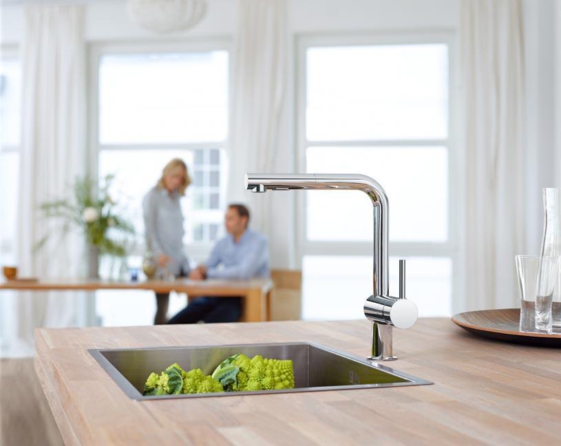 grohe minta küchenarmatur, schwenkbegrenzung 0°/150°/360°, l ... - Küche Wasserhahn Grohe
