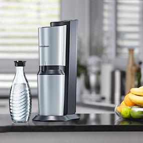 sodastream wassersprudler crystal umsteiger set 1 x 0 6l glaskaraffe ohne co2 zylinder. Black Bedroom Furniture Sets. Home Design Ideas