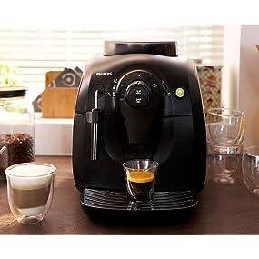 philips hd8651 01 2000 serie kaffeevollautomat klassischer milchaufsch umer schwarz. Black Bedroom Furniture Sets. Home Design Ideas