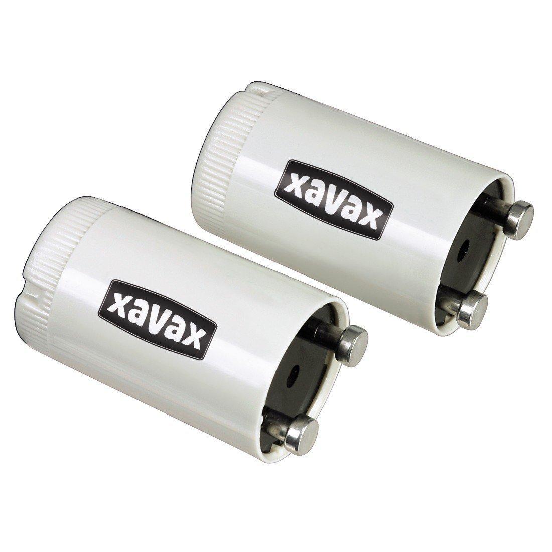 Xavax 2 Leuchtstofflampen-Starter für Leuchtstoffröhren in
