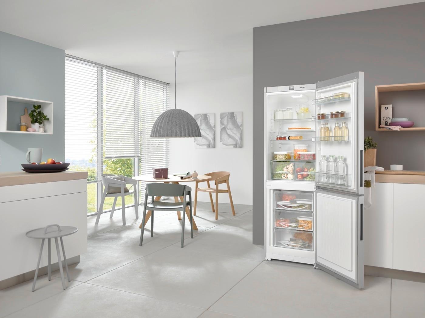 miele kfn 29283 edt cs k hl gefrier kombination a ebay. Black Bedroom Furniture Sets. Home Design Ideas