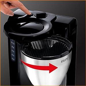 krups kt4208 filter kaffeemaschine mit thermoskanne edelstahl schwarz neu ovp ebay. Black Bedroom Furniture Sets. Home Design Ideas