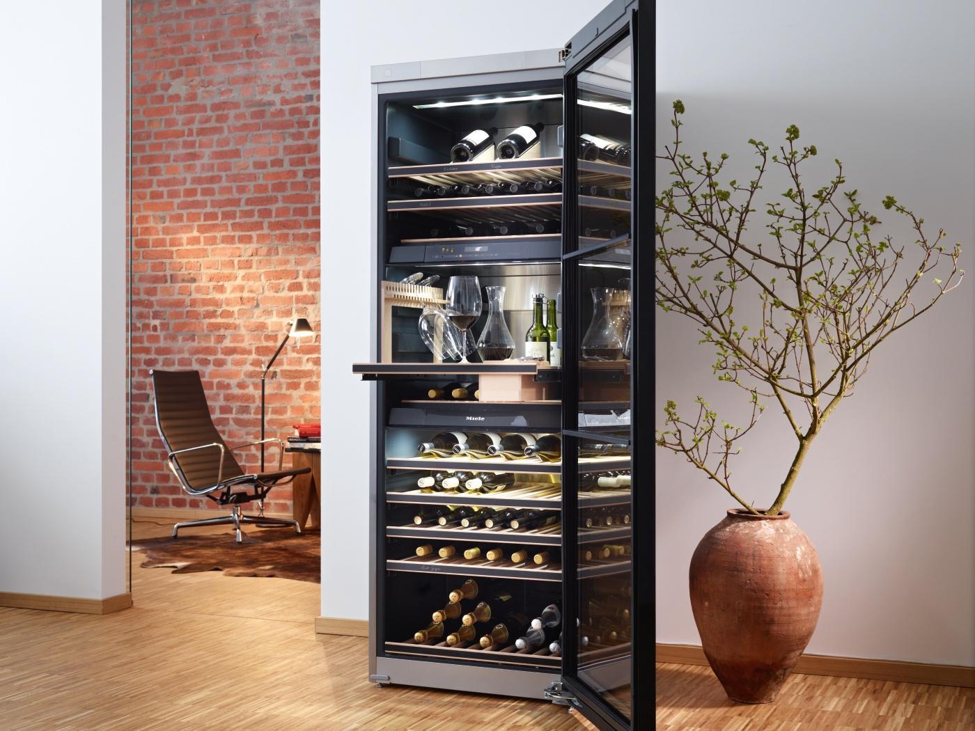 Miele KWT 6833 SG Weinkühlschrank / Parallele Lagerung von