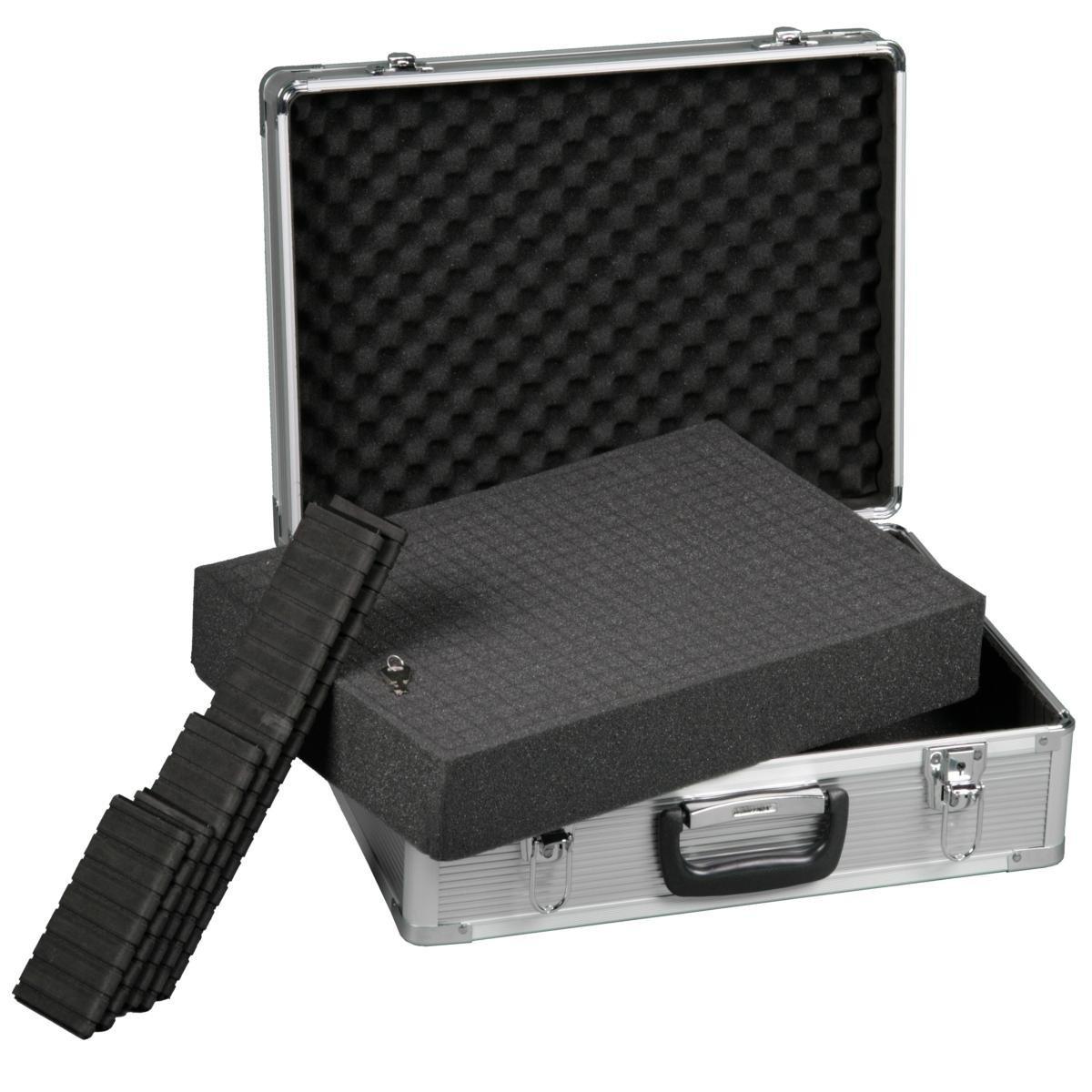 mantona foto koffer basic m mit schaumstoff silber kamera. Black Bedroom Furniture Sets. Home Design Ideas
