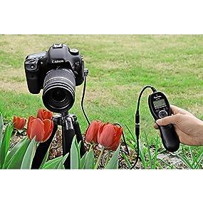 Hama Timer-Fernauslöser für Kameras mit Remote-Control-Eingang, DCCSystem, Schwarz