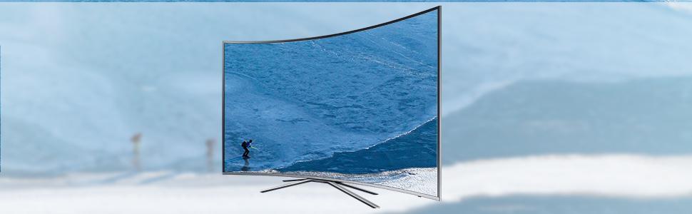 samsung ku6509 163 cm 65 zoll curved fernseher ultra hd triple tuner smart tv. Black Bedroom Furniture Sets. Home Design Ideas