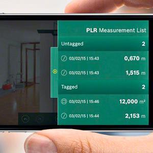 Die PLR Measure List bietet die Möglichkeit, alle Ergebnisse noch einmal aufgelistet zu sehen.