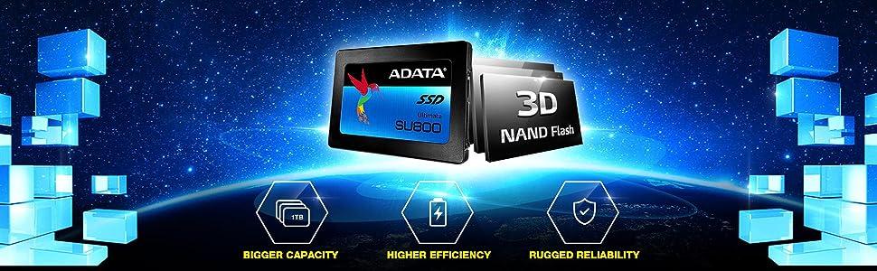 SU800;adata;a-data;SSD;schnell;ultraschnell;3D;3D NAND;NAND Flsh;neue Generation