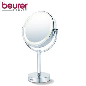 beurer bs 69 kosmetikspiegel beleuchteter spiegel mit 2 drehbaren spiegelfl chen und 5 fach. Black Bedroom Furniture Sets. Home Design Ideas