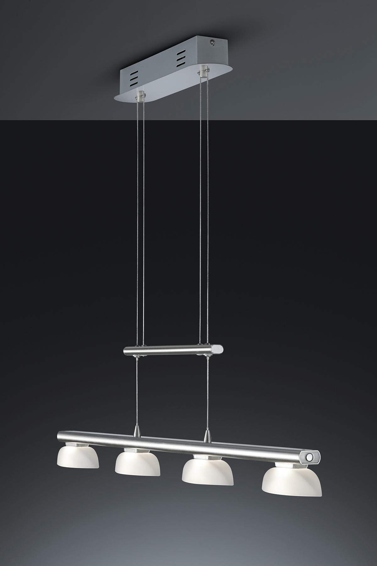 trio leuchten led jojo pendelleuchte senator nickel matt glas wei 324390407. Black Bedroom Furniture Sets. Home Design Ideas