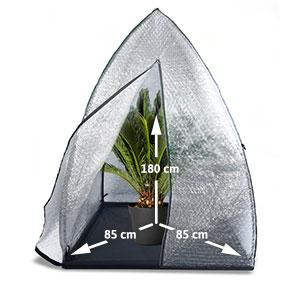 bio green berwinterungszelt igloo klarsicht 120 x 120 x 180 cm igl garten. Black Bedroom Furniture Sets. Home Design Ideas