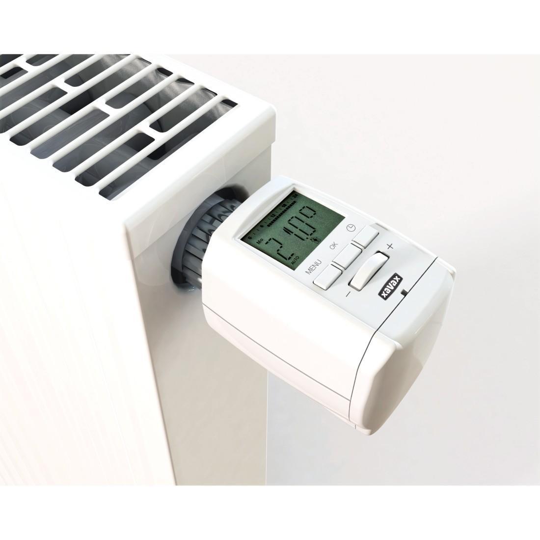 xavax heizk rperthermostat mit neuer xavax 2 app bluetooth smart kabellose steuerung via. Black Bedroom Furniture Sets. Home Design Ideas