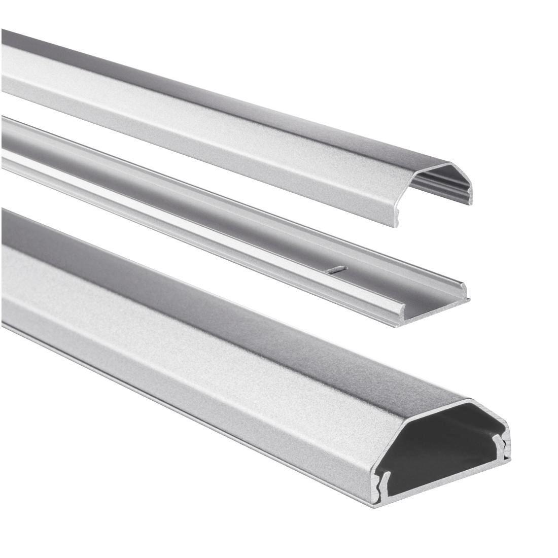 Hama Kabelkanal Alu (Aluminium Leiste für TV Wandhalterung
