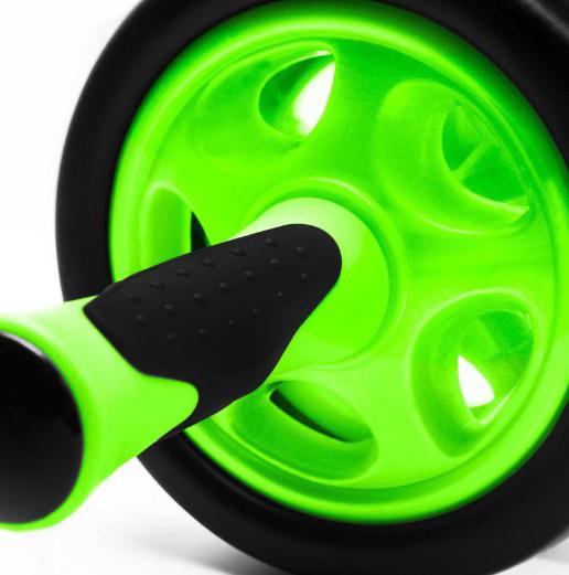 transportabel und verstaubar Ideal zum Training der Bauchmuskulatur f/ür schnelle Erfolge beim Sport Bauchtrainer /»TheDoubleWheel/« zum effektives Bauchmuskeltraining hellgr/ün Einfacher zusammenbau
