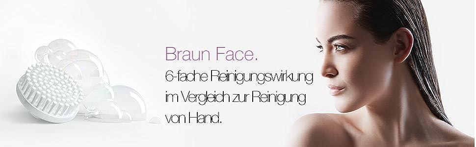 Braun Face 80 Ersatzbürste (Gesichtsreinigungsbürste Aufsatz), 2er Pack