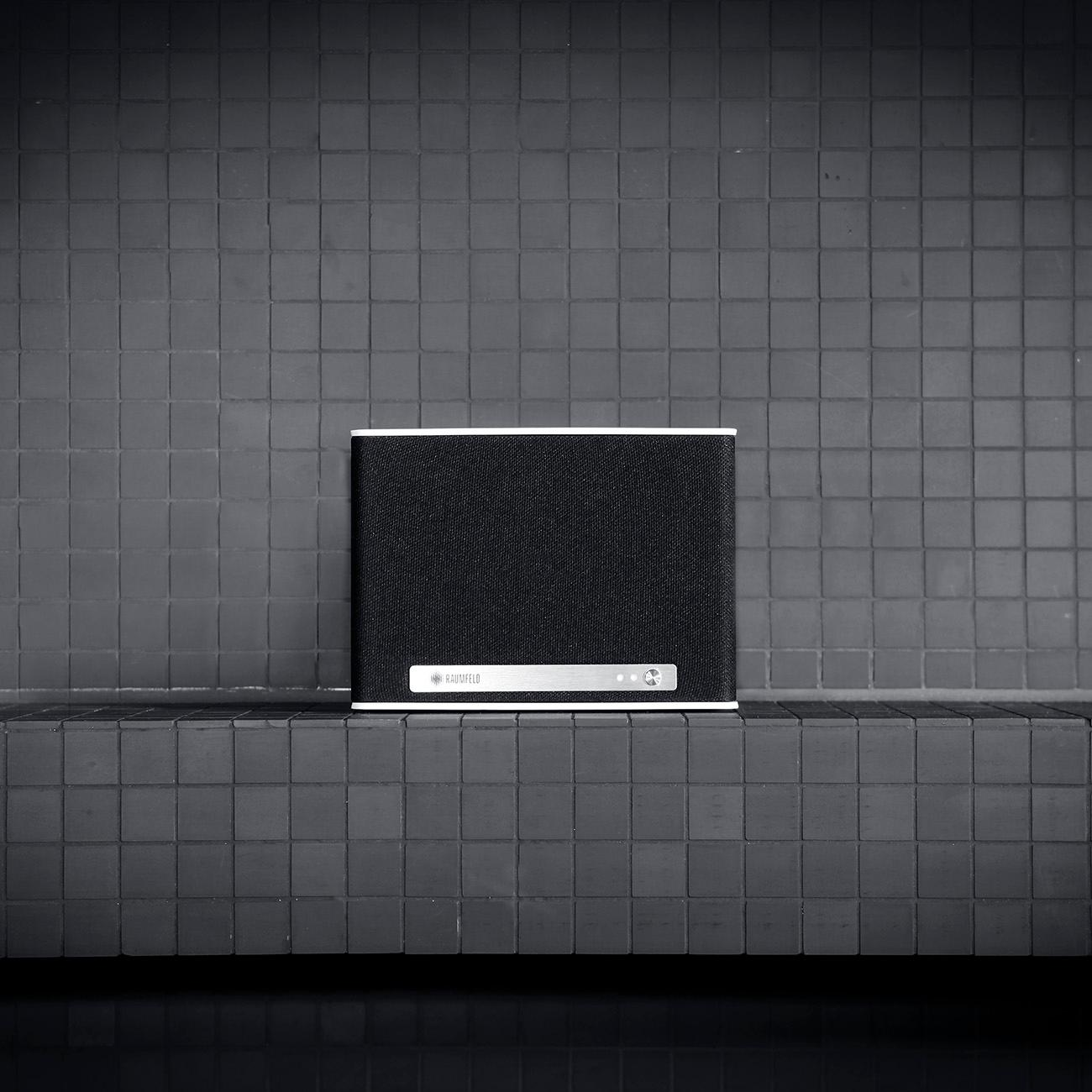 raumfeld one s mini wlan lautsprecher wei streaming wlan spotify kabellos multiroom app. Black Bedroom Furniture Sets. Home Design Ideas