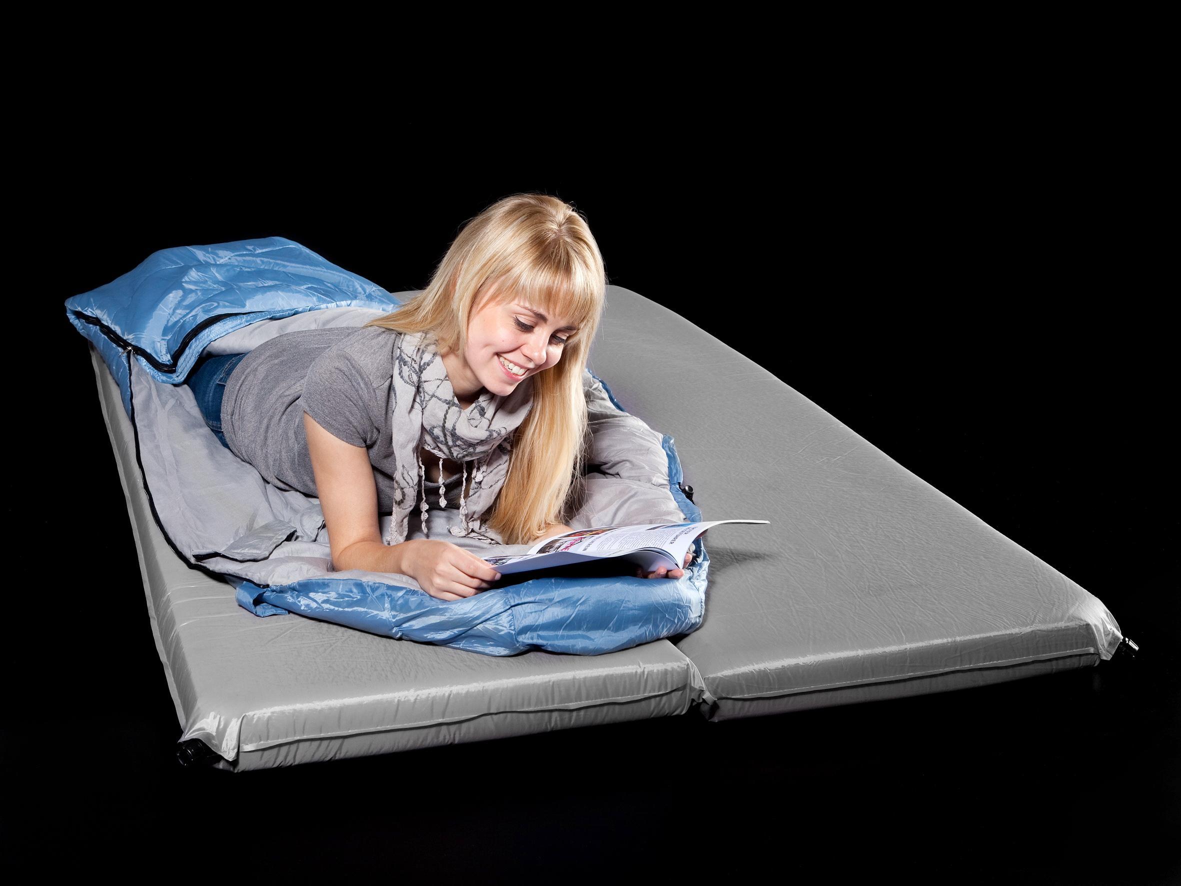 skandika selbstaufblasbare isomatte deluxe double grau. Black Bedroom Furniture Sets. Home Design Ideas