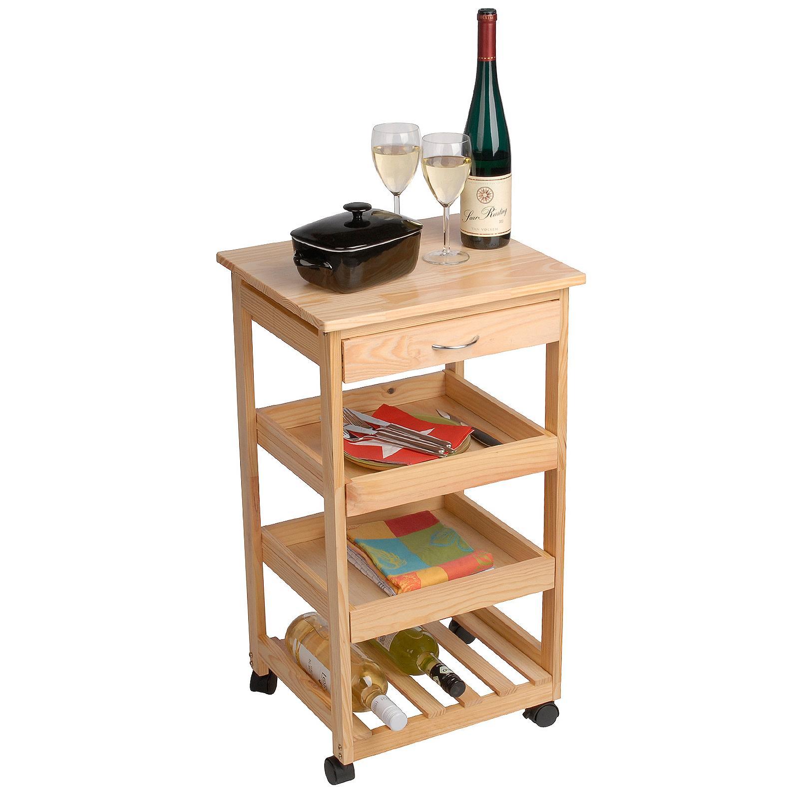 limal k chen trolley david holz braun 37 x 42 x 75 cm 1 schublade 1 weinablage 2. Black Bedroom Furniture Sets. Home Design Ideas