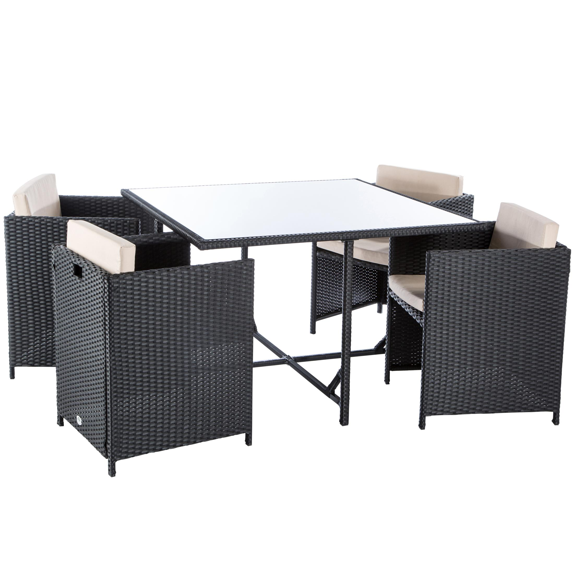 Ultranatura poly rattan lounge set palma serie for Amazon tisch